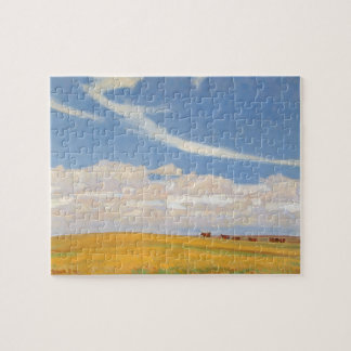 Prairie After Storm by Maynard Dixon, Vintage Art Jigsaw Puzzle