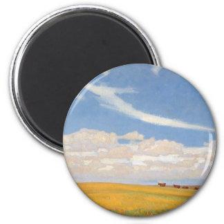Prairie After Storm by Maynard Dixon, Vintage Art Magnet