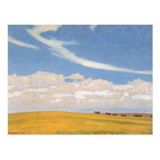 Prairie After Storm by Maynard Dixon, Vintage Art Postcard
