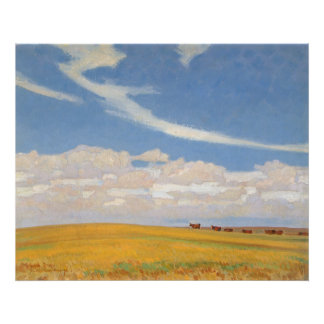 Prairie After Storm by Maynard Dixon, Vintage Art Poster