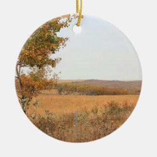 Prairie Autumn Ceramic Ornament