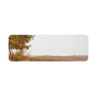 Prairie Autumn Labels