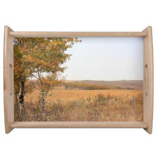 Prairie Autumn Service Trays