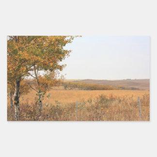Prairie Autumn Rectangular Sticker