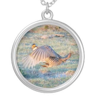 Prairie Chicken Silver Plated Necklace