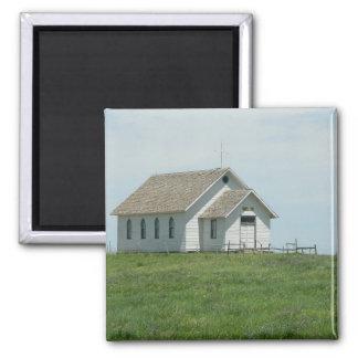 Prairie Church 2 Inch Square Magnet