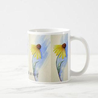 Prairie Coneflower Cup Classic White Coffee Mug