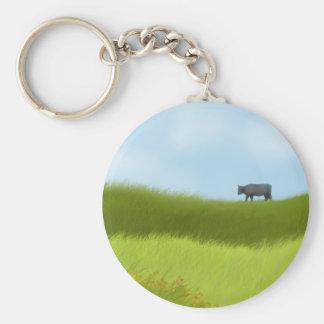 Prairie Cow Keychain