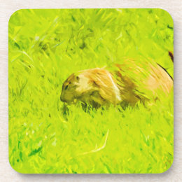 Prairie Dog Abstract Impressionism Beverage Coaster