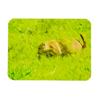 Prairie Dog Abstract Impressionism Magnet