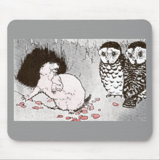 Prairie Dog and Owls in Burrow Mouse Pad