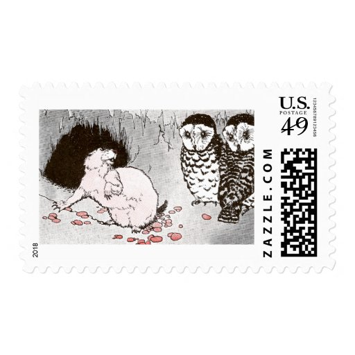 Prairie Dog and Owls in Burrow Postage Stamps