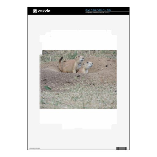 Prairie Dog Couple Decals For iPad 2