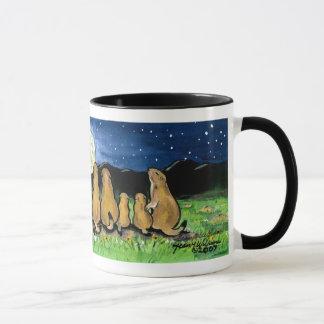 Prairie Dog Families Watching the Moon, Mug
