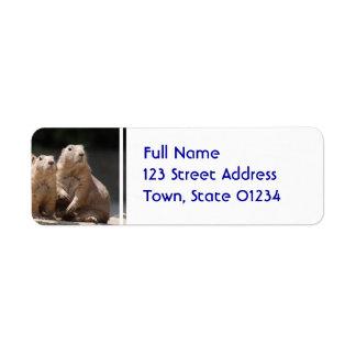 Prairie Dog Family Return Address Label
