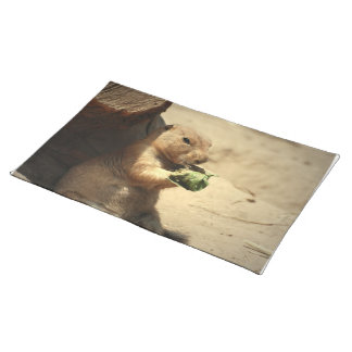 Prairie Dog Hanging Out Placemat Cloth Place Mat