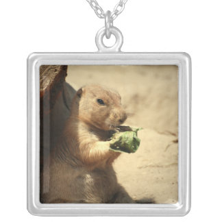 Prairie Dog Hanging Out Sterling Silver Necklace