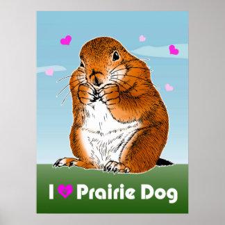prairie dog (Heart) Poster