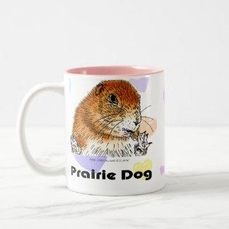 prairie dog (Heart) Two-Tone Coffee Mug
