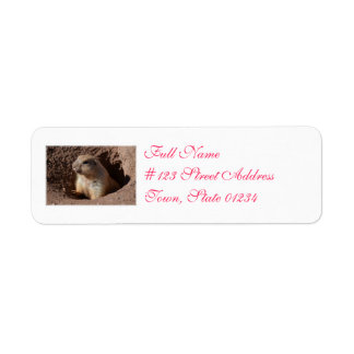 Prairie Dog in Hole Return Address Label