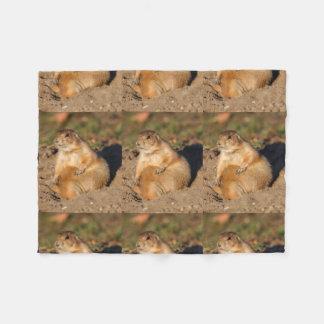 prairie dog is full fleece blanket