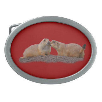 Prairie Dog Kiss Belt Buckle