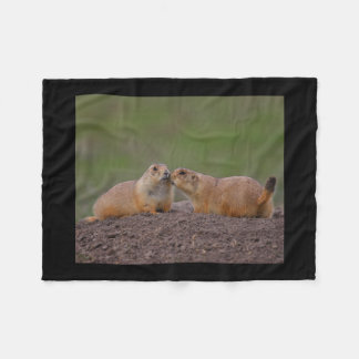 prairie dog kiss fleece blanket