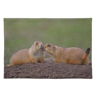prairie dog kiss place mats