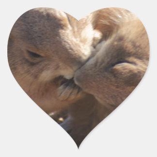 Prairie Dog Love Heart Sticker