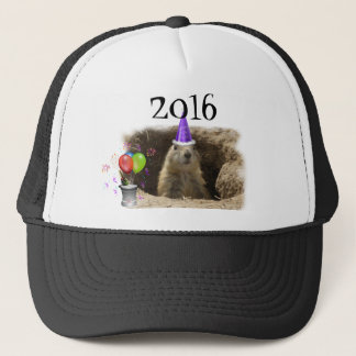 prairie dog new year's party trucker hat