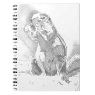 prairie dog pencil drawing journal