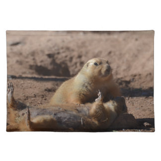 Prairie Dog Playing Dead Cloth Placemat