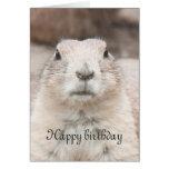 Prairie dog portrait birthday card