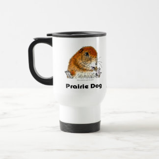 prairie dog which stands travel mug
