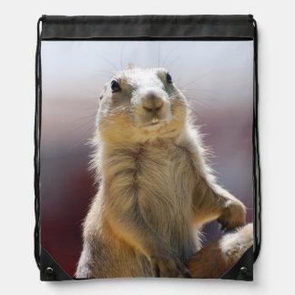 Prairie Dog with Buck Teeth Cinch Bag