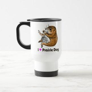 prairie dog's face travel mug
