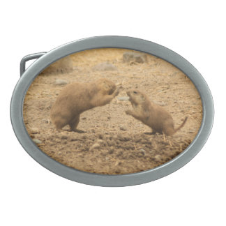 Prairie Dogs Give Me Some Skin Belt Buckle