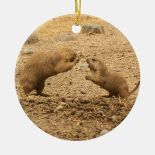 Prairie Dogs Give Me Some Skin Ornament