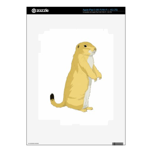 Prairie Dogs/Marmots/Ground Squirrels Skin For iPad 3