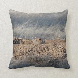 Prairie Dogs photo Throw Pillow