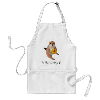 prairie dog's stuffed toy adult apron