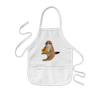 prairie dog's stuffed toy kids' apron