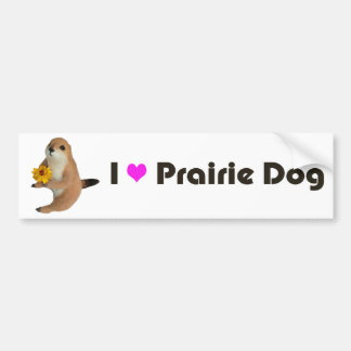 prairie dog's stuffed toy bumper sticker