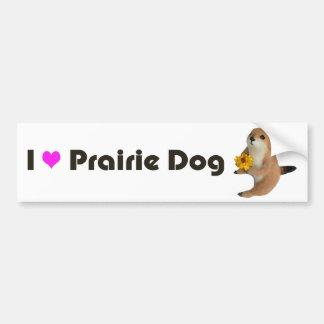 prairie dog's stuffed toy bumper sticker