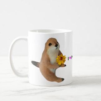 prairie dog's stuffed toy coffee mug