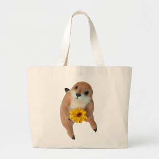 prairie dog's stuffed toy large tote bag