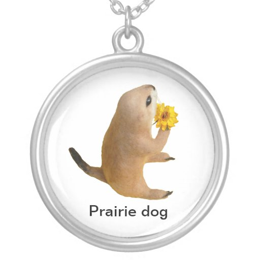 prairie dog's stuffed toy personalized necklace