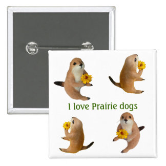 prairie dog's stuffed toy pinback button