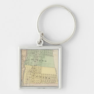 Prairie du Chien, county seat of Crawford Co Silver-Colored Square Keychain