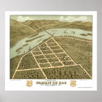 Prairie Du Sac, WI Panoramic Map - 1870 Poster